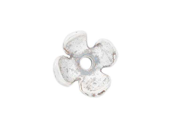 Sterling Silver Small 4 Petal Bead Cap