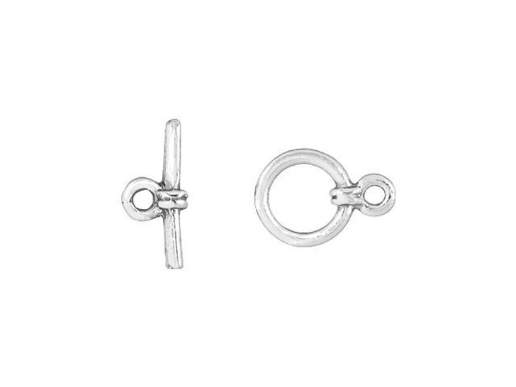 Sterling Silver Small Simple Toggle Clasp Set