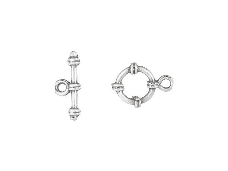 Sterling Silver Small Toggle Clasp Set