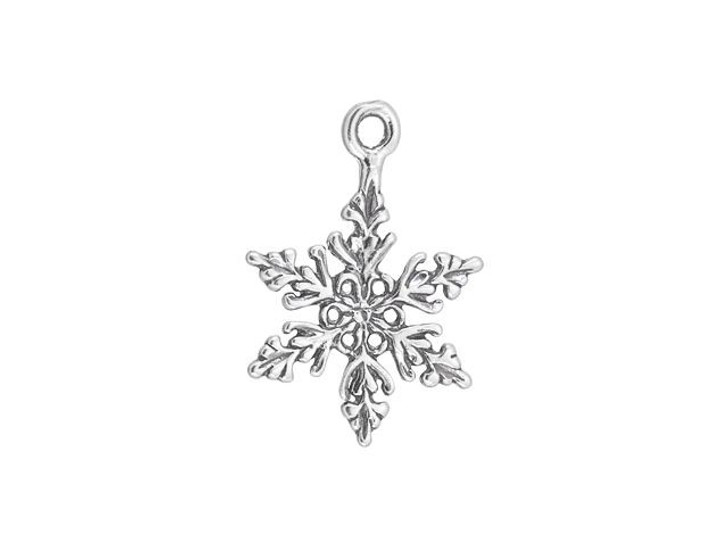 Artbeads Sterling Silver Snowflake Charm