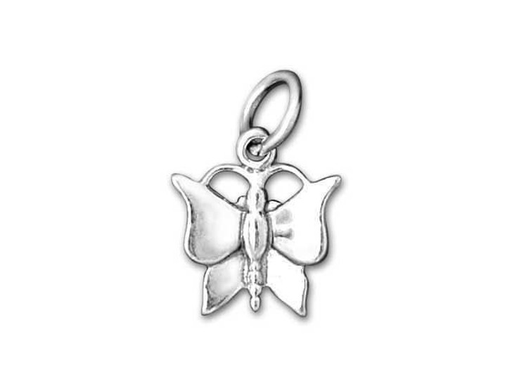 Sterling Silver Solid Monarch Butterfly Charm