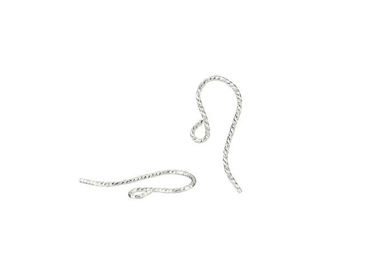 Sterling Silver Sparkle French Ear Wire (Pair)