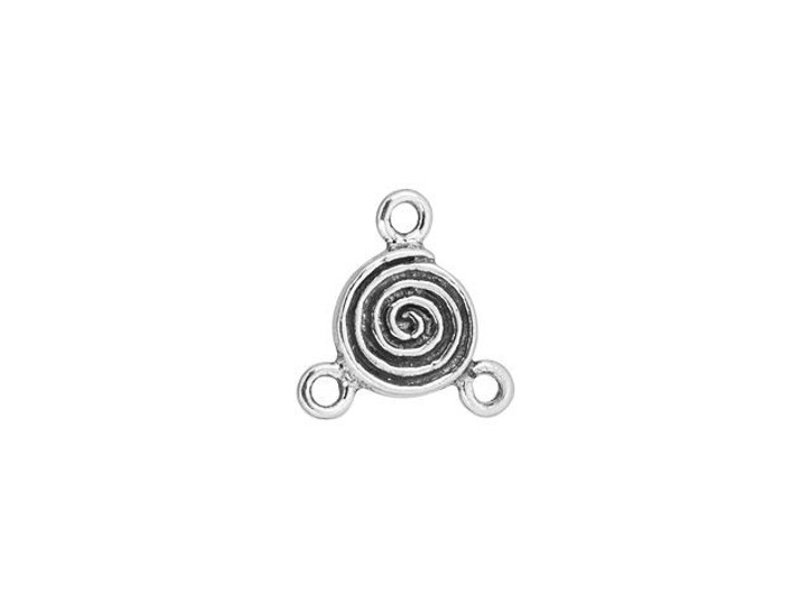 Sterling Silver Spiral Link with 3 Loops