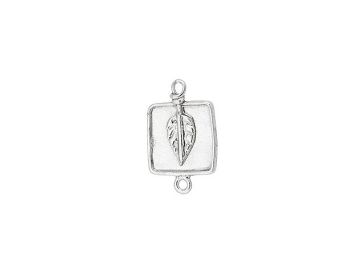 Sterling Silver Square Leaf Link