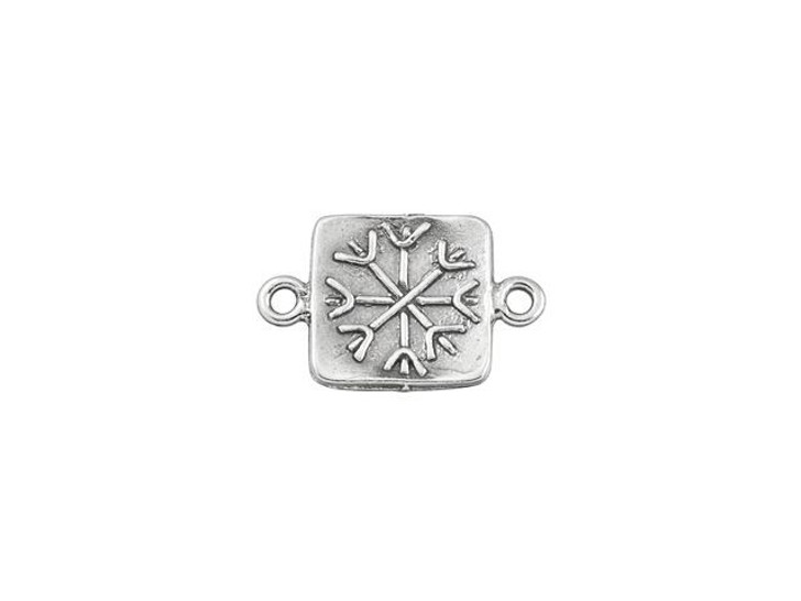 Sterling Silver Square Snowflake Link