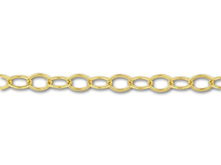 2207 Gold-Filled Flat Cable Chain by the Foot