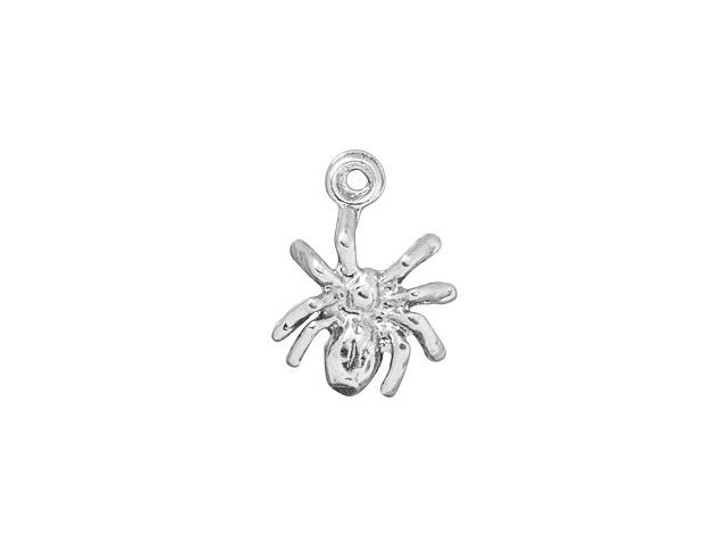 Tiny Star Charm Sterling Silver .925 Very Small Flat Shiny Five Point