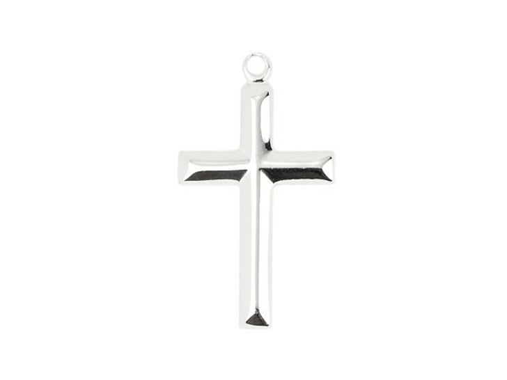 Sterling Silver Traditional Cross Charm