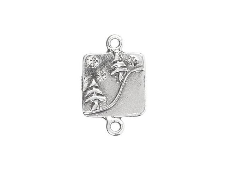 Sterling Silver Trees on a Hill Square Link