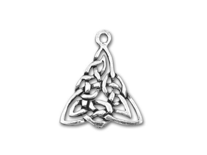 Sterling Silver Triangle Celtic Knot Charm
