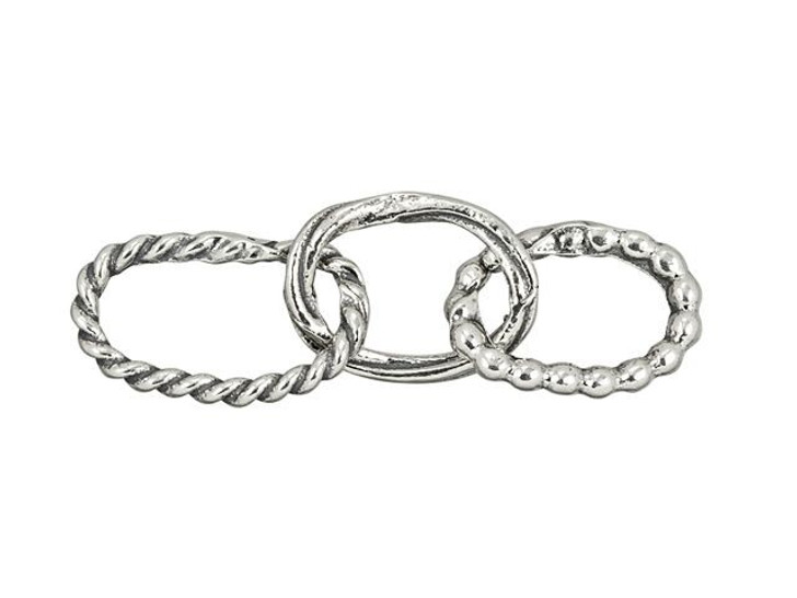 Sterling Silver Various Single-Cast Chain with 3 Links