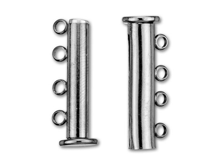 24.5x10mm Gunmetal-Plated 4 Ring Magnetic Tube Clasp