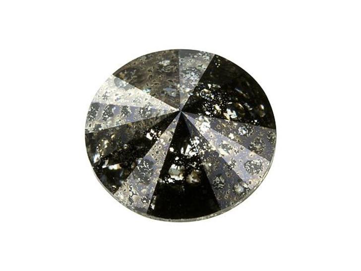 Swarovski 1122 12mm Rivoli Crystal Black Patina