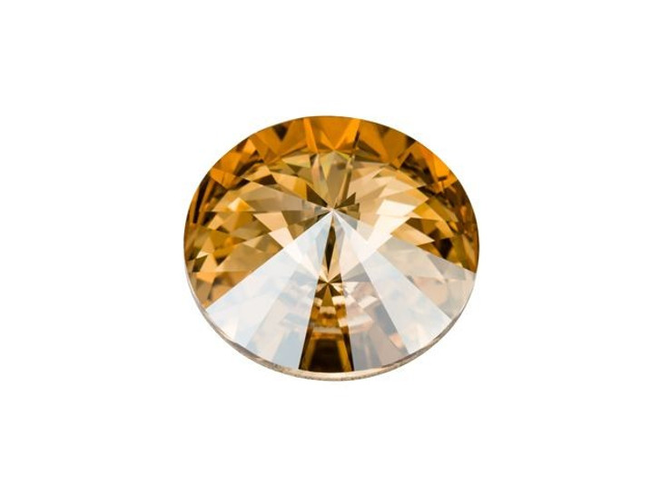 Swarovski 1122 12mm Rivoli Crystal Golden Shadow