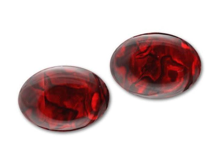 25x18mm Oval Paua Cabochon - Ruby