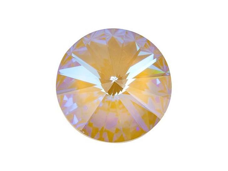 Swarovski 1122 12mm Rivoli Crystal Ochre DeLite LacquerPRO