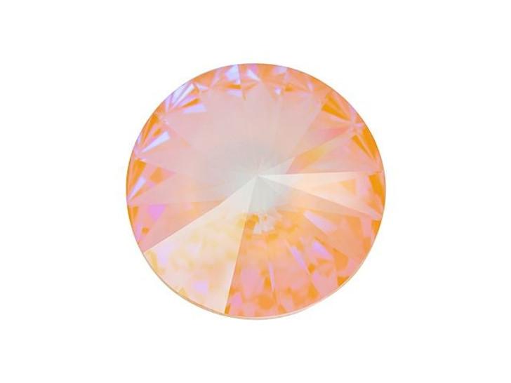 Swarovski 1122 12mm Rivoli Crystal Peach DeLite LacquerPRO
