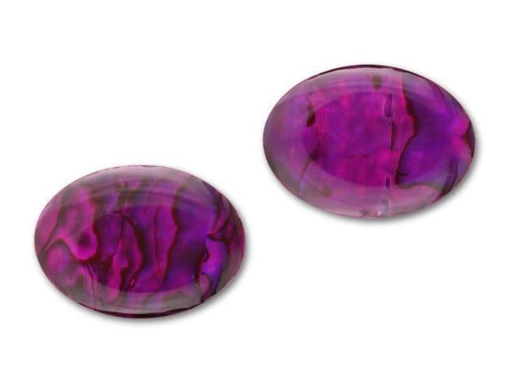 25x18mm Oval Paua Cabochon - Violet