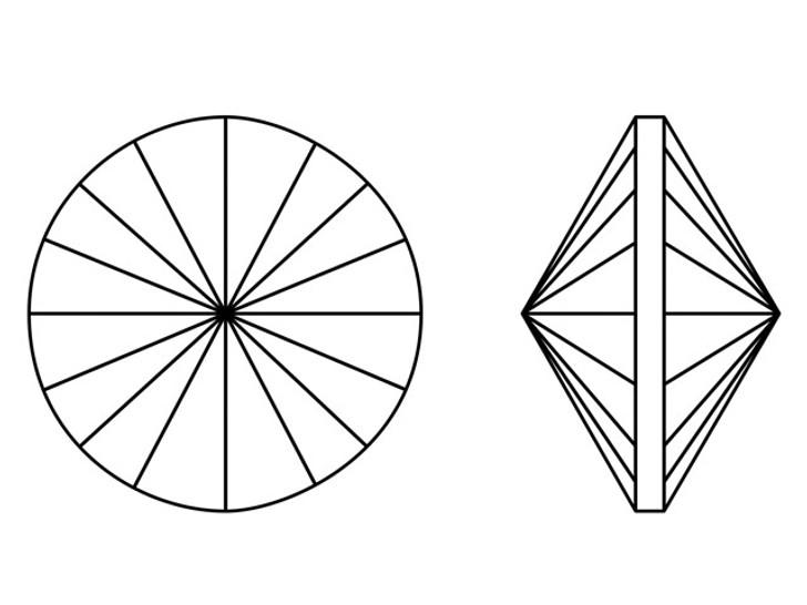 Swarovski 1122 12mm Rivoli Crystal Rainbow Dark