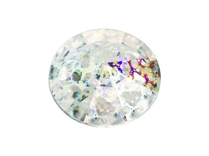 Swarovski 1122 12mm Rivoli Crystal White Patina