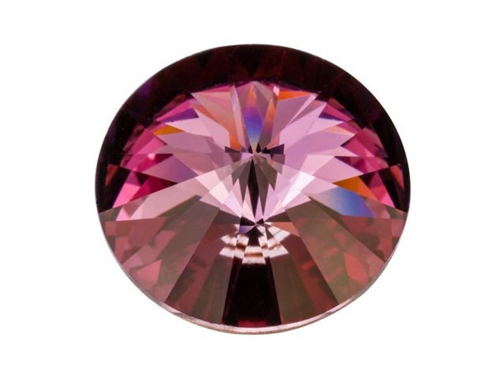 Swarovski 1122 14mm Rivoli Crystal Antique Pink