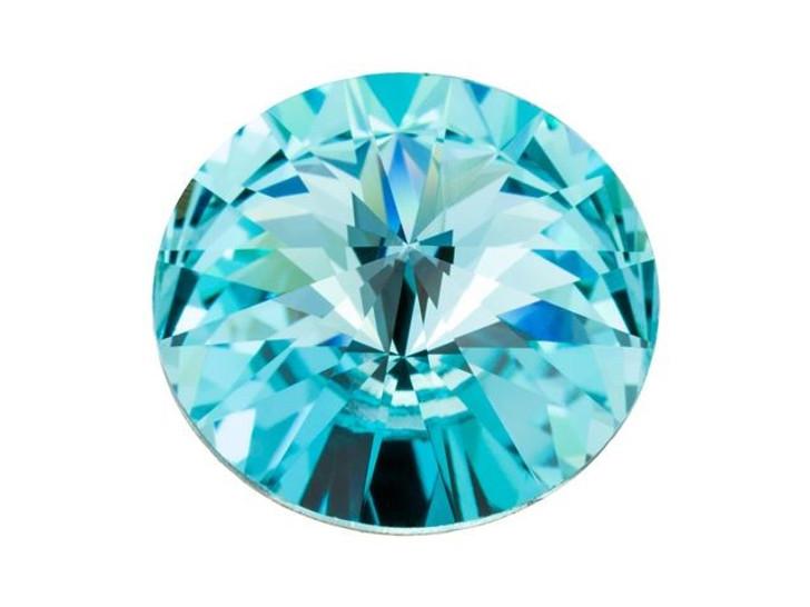 4 Light Turquoise Swarovski Crystal Foiled 1122 Rivoli Stone Beads 14MM