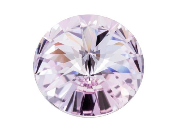 Sparkling light purple sterling silver chain Violet Crystal Rivoli Necklace
