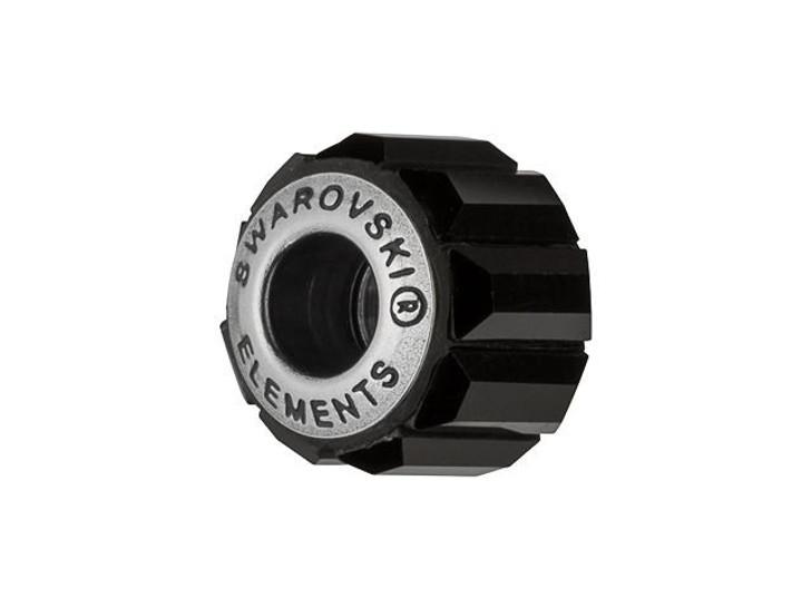 Swarovski 180301 10.5mm BeCharmed Pave Bead with Jet Baguette Fancy Stones on Black Base
