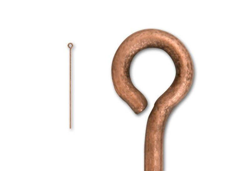 2-inch Antique Copper-Plated 20 Gauge Eyepin
