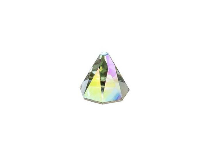 Swarovski 2019 6mm Round Spike Flatback Black Diamond Shimmer