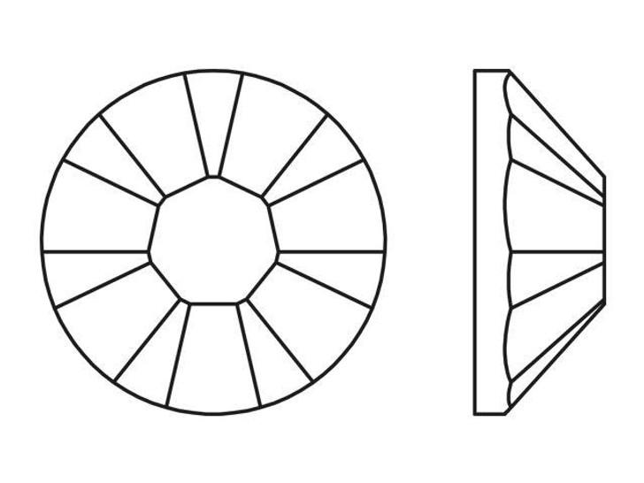 Swarovski 2038 SS8 Hotfix Flatback Majestic Blue