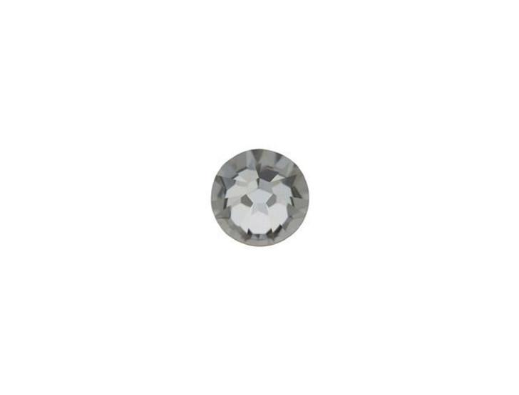 Swarovski 2058 SS12 Xilion Rose Enhanced Flatback Crystal Silver Night