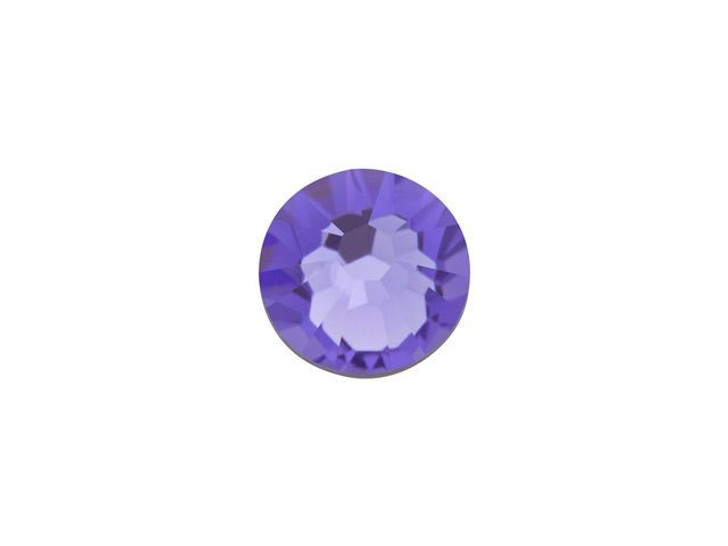Swarovski 2058 SS20 Xilion Rose Enhanced Flatback Tanzanite