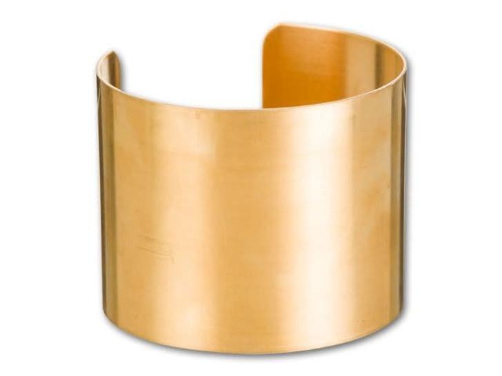 2-Inch Brass Flat Bracelet Cuff