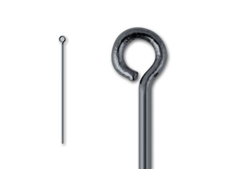 2-inch Gunmetal-Plated 20 Gauge Eye Pin