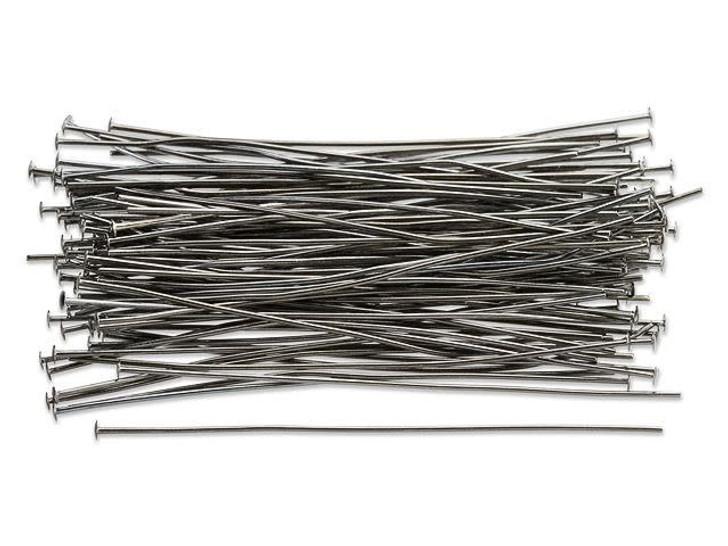 2-Inch Gunmetal-Plated 22 Gauge Head Pin (100pc Pack)