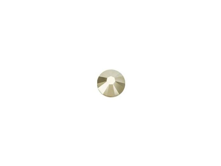 Swarovski 2058 SS9 Xilion Rose Enhanced Flatback Crystal Metallic Light Gold