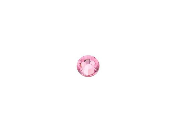 Swarovski 2058 SS9 Xilion Rose Enhanced Flatback Light Rose