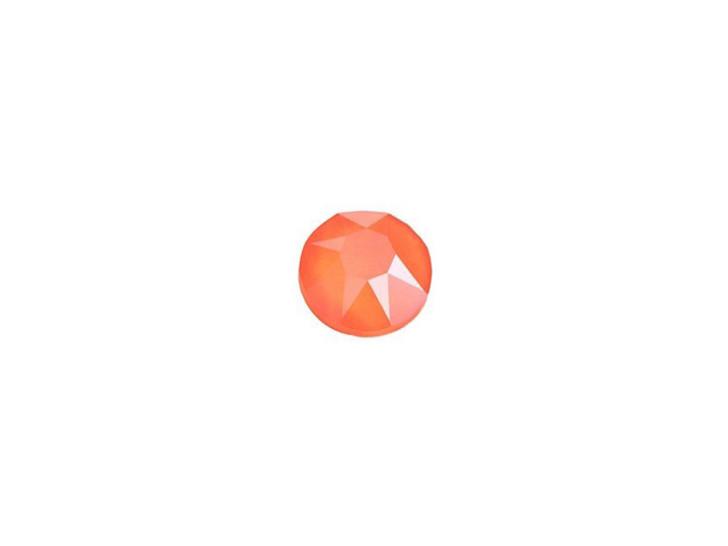 Swarovski 2078 SS16 XIRIUS Hotfix Flatback Crystal Electric Orange LacquerPRO