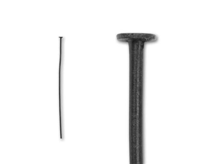 2-Inch Matte Black-Plated 20 Gauge Head Pin
