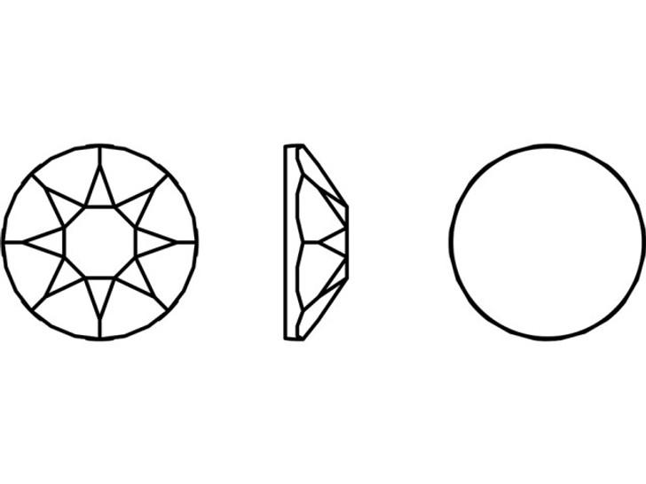 Swarovski 2078 SS16 Xirius Hotfix Flatback Crystal Peony Pink Shiny LacquerPRO