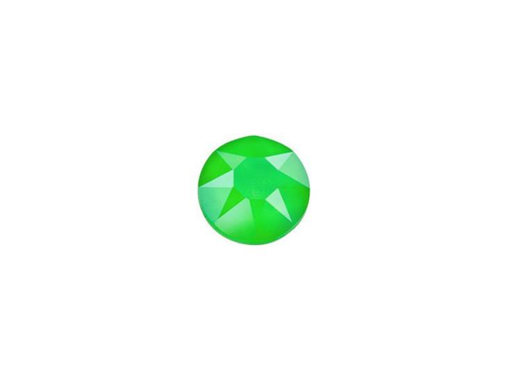 Swarovski 2078 SS20 XIRIUS Hotfix Flatback Crystal Electric Green LacquerPRO