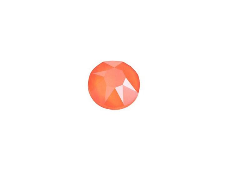 Swarovski 2078 SS20 XIRIUS Hotfix Flatback Crystal Electric Orange LacquerPRO