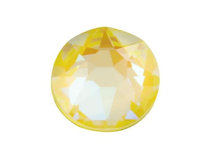 Swarovski 2078 SS34 XIRIUS Hotfix Flatback Crystal Sunshine DeLite LacquerPRO