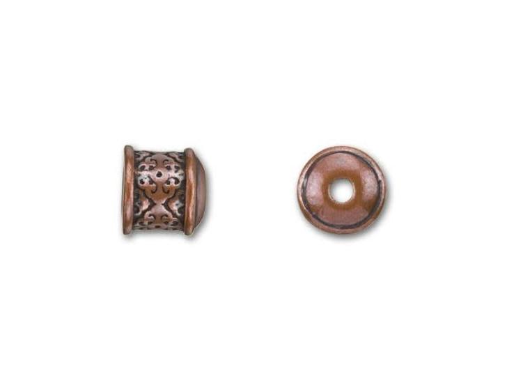 B&B Benbassat 6mm Antique Copper-Plated Pewter Filigree End Cap