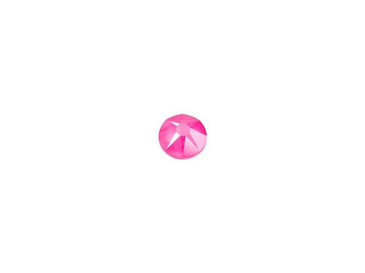 Swarovski 2088 SS12 XIRIUS Rose Flatback Crystal Electric Pink LacquerPRO