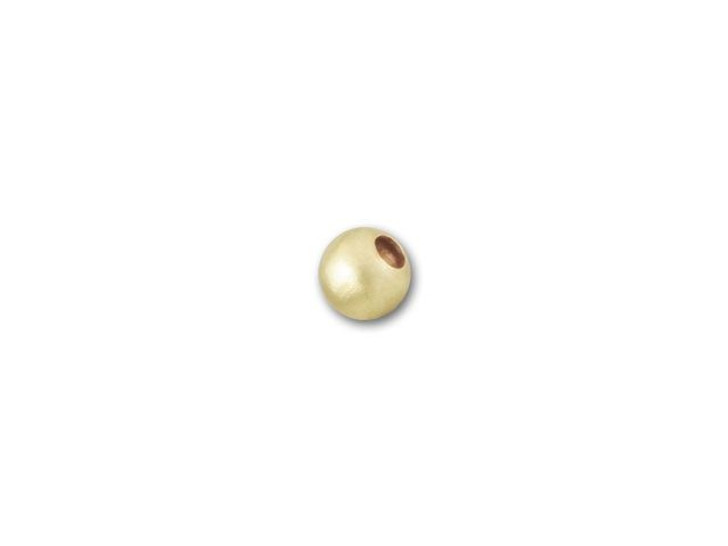 2mm Gold-Filled Round Matte Bead
