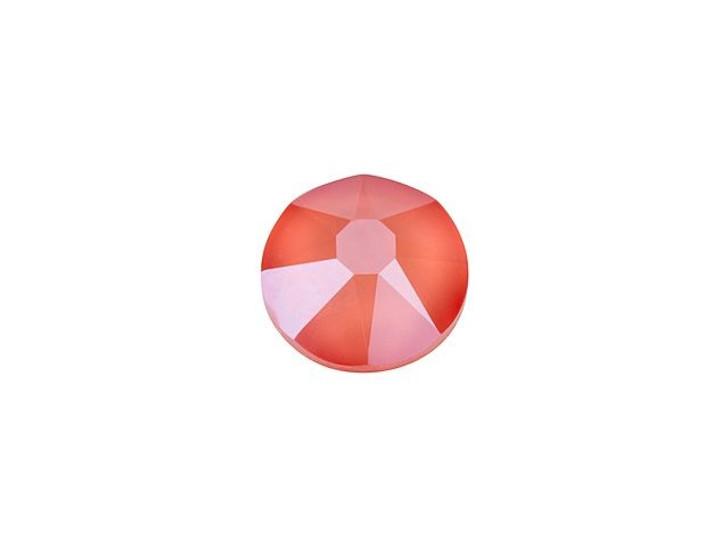 Swarovski 2088 SS20 Xirius Rose Flatback Crystal Light Coral Shiny LacquerPRO (Min Qty 10)