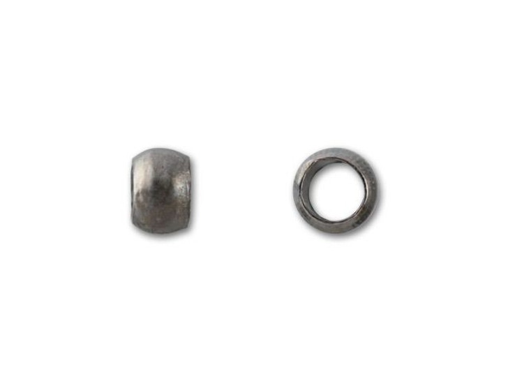 2mm Gunmetal-Plated Crimp Bead