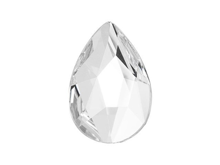 Swarovski 2303 14mm Pear Flatback Crystal
